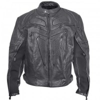 Xelement XS-623 Armored Mens Leather Motorcycle Jacket