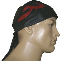 MD Leather Bandana H-2009 with red flame