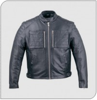 Himalaya 229 Mens Black Leather Motorcycle Jacket