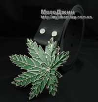 Marijuana Green Maple Leaf Metal Buckle