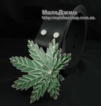 Marijuana Green Maple Leaf Metal Buckle