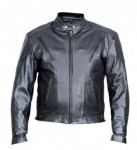 Mens Drum Dyed Naked Cowhide Biker Jacket AL2070
