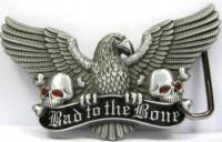 Bad To The Bone Belt Buckle Eagle B38