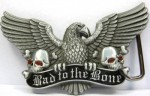 Bad To The Bone Belt Buckle Eagle B38