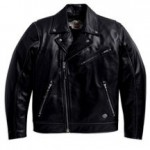 HARLEY Mens Freedom Rider Leather Biker Jacket