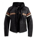 Harley-Davidson Womens Miss Enthusiast 3 in 1 Leather Jacket