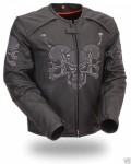 FMC Mens Raceway Motorcycle Biker Skull Jacket