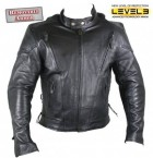 Men's Naked Cowhide Leather with Level-3 Advanced Armored Motorcycle B7277