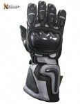 Xelement Motorcycle Silver Carbon Gloves XG-441B