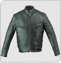 Himalaya 209 Mens Black Leather Motorcycle Jacket