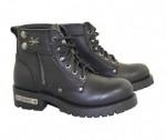 Xelement Womens Zipper Righteous Motorcycle Boots 2505