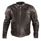 Xelement Armored Mens Black Leather Speedster Motorcycle Jacket XS-8166
