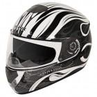 Hawk GLD-807 Infernal Series Glossy White/Black Full Face Helmet GLD-807-WHT-BLK