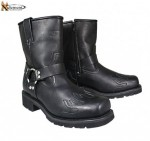 Xelement  Womens Short Harness Black Flame Motorcycle Boots 2555