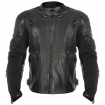 Xelement Advanced Armored Padded Men's Black Motorcycle Jacket XS-1013