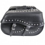 Xelement Waterproof Studded Double Buckle Classic Motorcycle Saddlebags X833