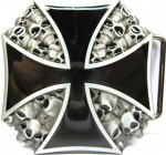 Iron Cross Metal Belt Buckle B22
