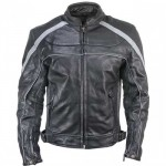 Xelement XS-611 Armored Mens Leather Jacket