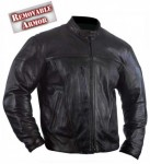 Xelement Motorcycle Armored Leather Jacket B9122