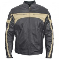 Xelement BXU-100570 Men's Armored Leather Motorcycle Jacket