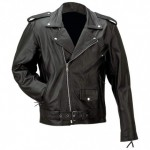 Rocky Mountain Mens Solid Leather Motorcycle Jack