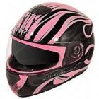 Hawk GLD-805 Infernal Series Glossy Black/Pink Full Face Helmet GLD-805-BLK-PNK
