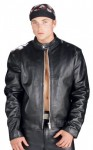 Xelement Black High Grade Motorcycle Racer Leather Jacket B7850
