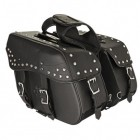 Xelement Waterproof Studded Slanted PVC Saddlebags BXU-109-15