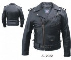 Mens Buffalo Hide Motorcycle Jacket AL2022