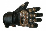 MD Heavy Metal Short Leather Gloves