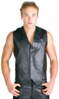 Xelement Classic Men's High Grade Cowhide Leather Vest B210