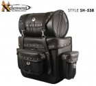Xelement Waterproof Deluxe Motorcycle Touring Pack with Rivets SH-538