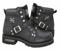Ladies Xelement Ladies Advanced Lace-Up Motorcycle Biker Boots 2469