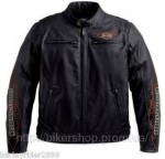 HARLEY Mens Ride Ready Leather Jacket