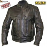 Xelement Retro Brown Bandit Buffalo Leather Motorcycle Jacket B7496