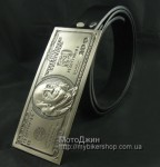 Huge Cash Silver $100 Dollar Note Buckle