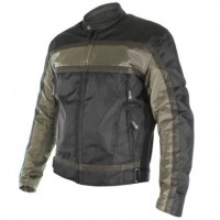 Xelment Men's Stealth Black/Green Gunmetal Armored Textile Jacket XS-2095