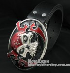 Evil Devil Red Skull Buckle
