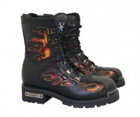 Xelement Motorcycle Fire Starter Lace Up Boots 2489
