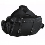 Xelement Zip-Off Chrome Platted Rivets Motorcycle Saddlebags SH-574-02ZB