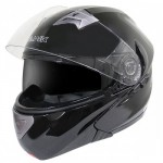 Hawk ST-22 Glossy Black Dual-Visor Modular Motorcycle Helmet