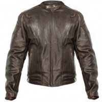 Xelement Mens Retro Brown Premium Speedster Motorcycle Jacket B7203