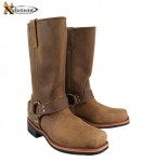 Xelement Womens Classic Harness Distressed Boots 2556