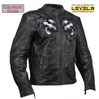 Xelement Horned Evil Skull Motorcycle Jacket B9150