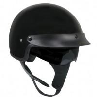 Outlaw V550 Glossy-Black Dual Visor Motorcycle Half Helmet