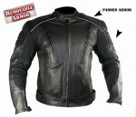 Xelement B9119 Men's Advanced Armored Padded Black Motorcycle Jacket