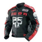 Icon Motorhead Skull Jacket Red