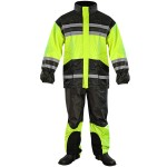 Xelement 2-piece Bone Dry Black/Neon Green Rainsuit XS-4935