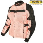 Xelement Women's All Season Tri-Tex and Mesh Pink/Black Jacket XS-8165