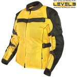 Xelement Women's All Season Tri-Tex and Mesh Yellow/Black Jacket XS-8163